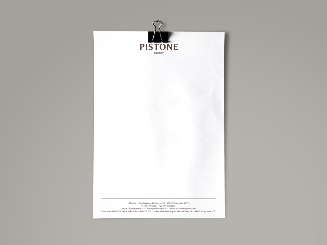 Pistone Carta Intestata